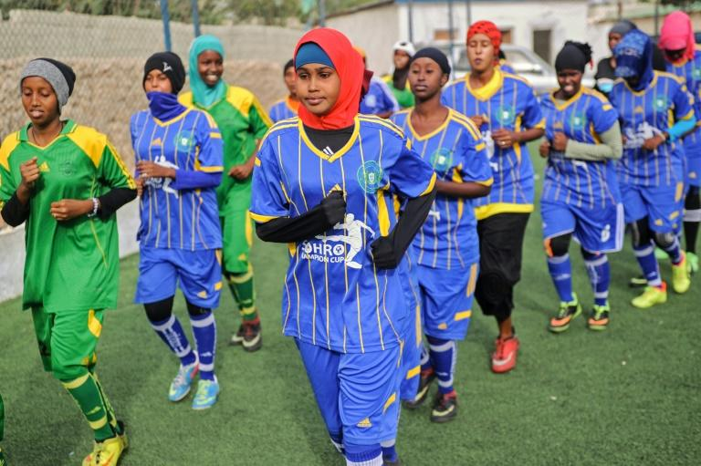 Undeterred by tradition and religion, around 60 girls have signed up to train at the Golden Girls Centre in Mogadishu, Somalia's first female soccer club