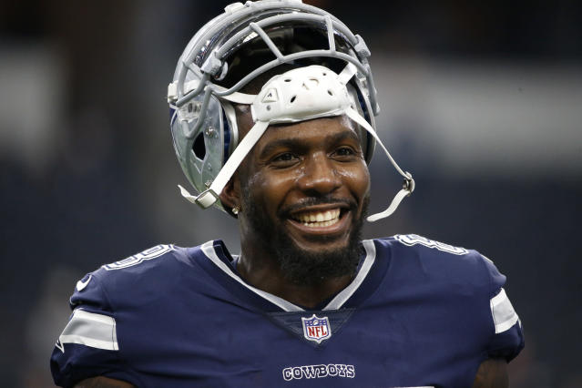 On field again: Dez Bryant is joining the New Orleans Saints, agreeing to a contract through the rest of this season. (AP)
