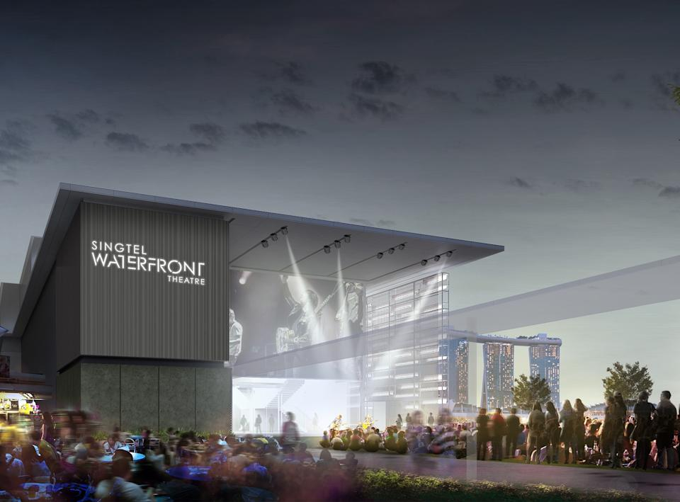 An artist's impression of the new 550-seat Singtel Waterfront Theatre, set to open in 2021. (ILLUSTRATION: Esplanade)