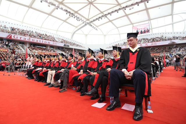 After seven years, former NBA star Yao Ming graduated from college. (Getty)