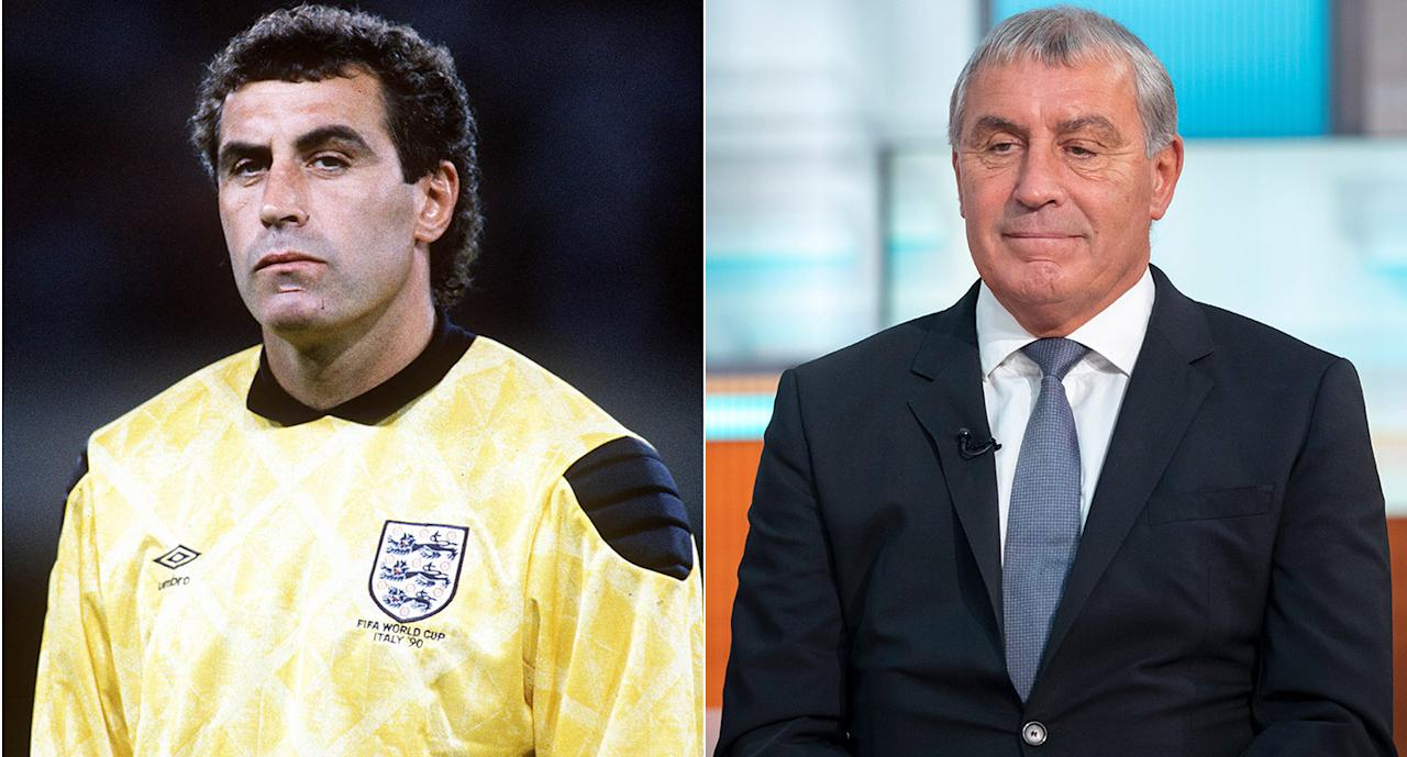 PETER SHILTON England's first-choice goalkeeper in Italy played on until 1997 and now runs a consultancy business with his wife. He competed in Strictly Come Dancing in 2010 and works on the after-dinner speaking circuit