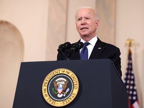 <p>Joe Biden has backed a 15 per cent minimum rate of tax on company profits</p> (Getty Images)