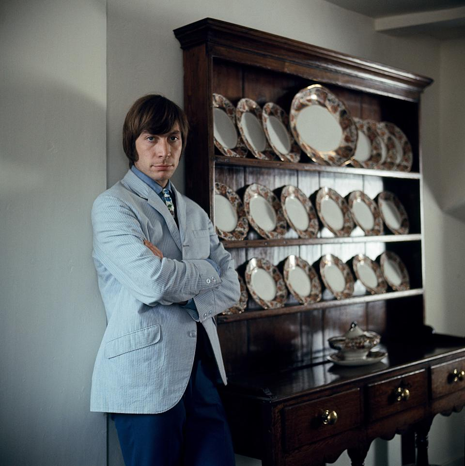Charlie Watts at home with a dresser. Lewes, SussexGered Mankowitz