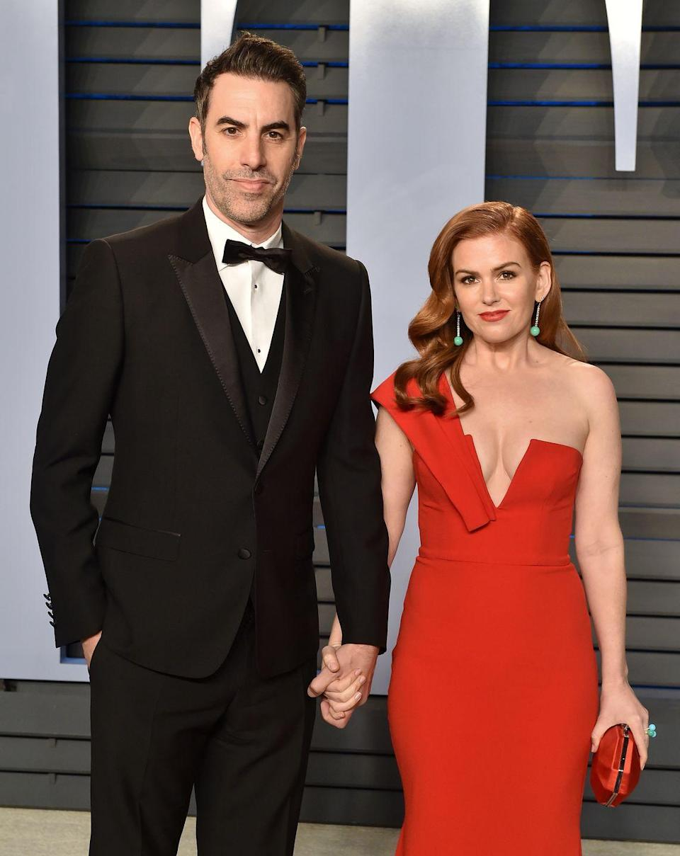 "<p>Isla Fisher and Sasha Baron Cohen are known to be tight-lipped when it comes to their relationship but the couple <a href=""https://www.instagram.com/p/BcabhsGHHRl/?utm_source=ig_embed&utm_campaign=embed_ufi_test"" rel=""nofollow noopener"" target=""_blank"" data-ylk=""slk:celebrated their 16th anniversary"" class=""link rapid-noclick-resp"">celebrated their 16th anniversary</a> in December 2017 (yes, 16 years). </p>"