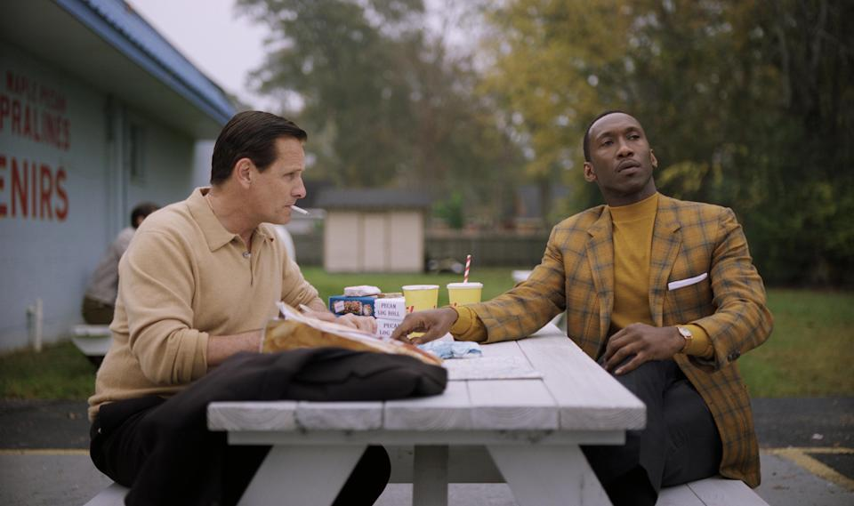 Viggo Mortensen and Mahershala Ali in Green Book (Credit: Universal)