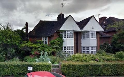 Picture shows the £1.5m house in Hampstead at the centre of the row - Credit: Champion News