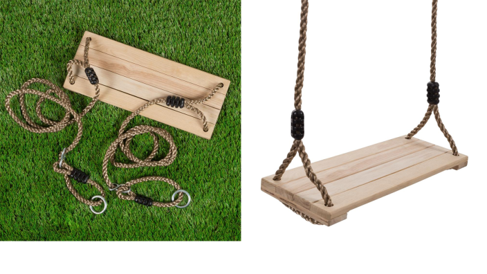 This wooden swing is the next best thing to a dirty old tire...on second thought, maybe this is better