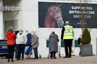 Epsom racecourse is one of England's vaccination centres