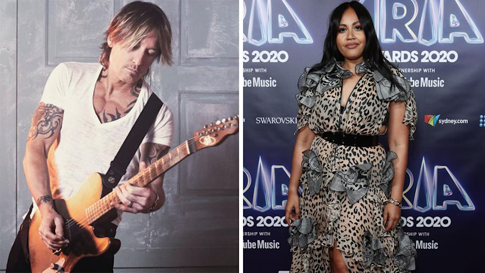 the voice Keith Urban and Jess Mauboy