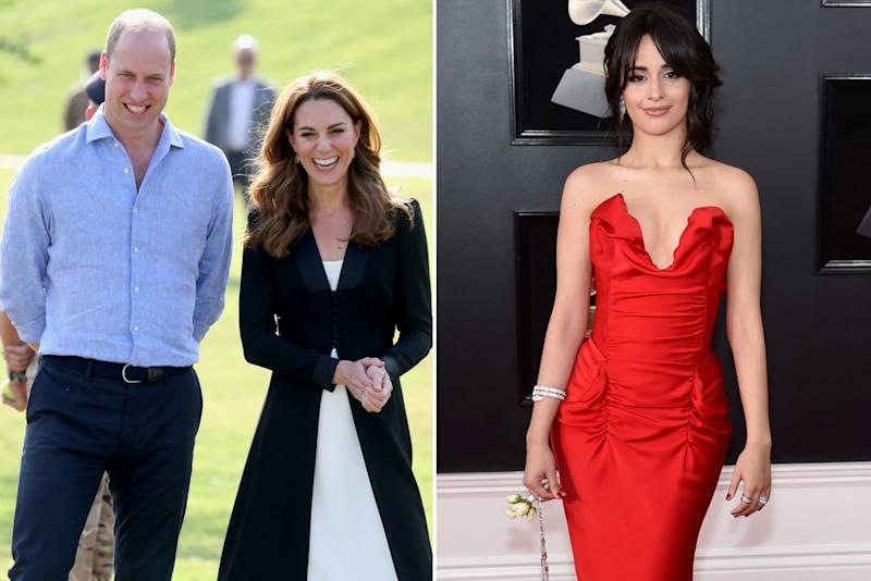 Prince William with Kate Middleton and Camila Cabello | Samir Hussein/WireImage; Jamie McCarthy; Getty Images
