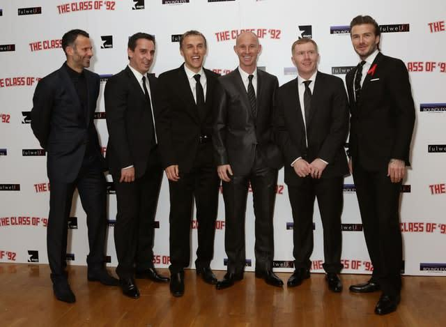 The story of Manchester United's golden generation was told in a 2013 documentary (Yui Mok/PA)