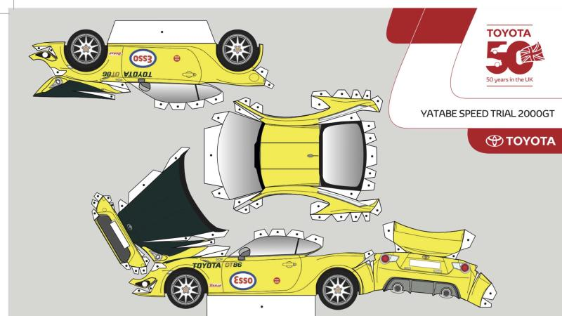 Toyota GT86 cut-out template