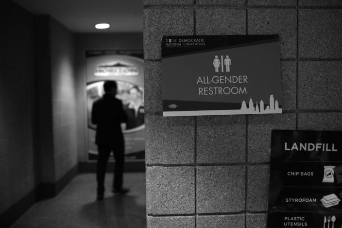 <p>'All-Gender' restroom at the DNC in Philadelphia, PA. on July 27, 2016. (Photo: Khue Bui for Yahoo News)</p>