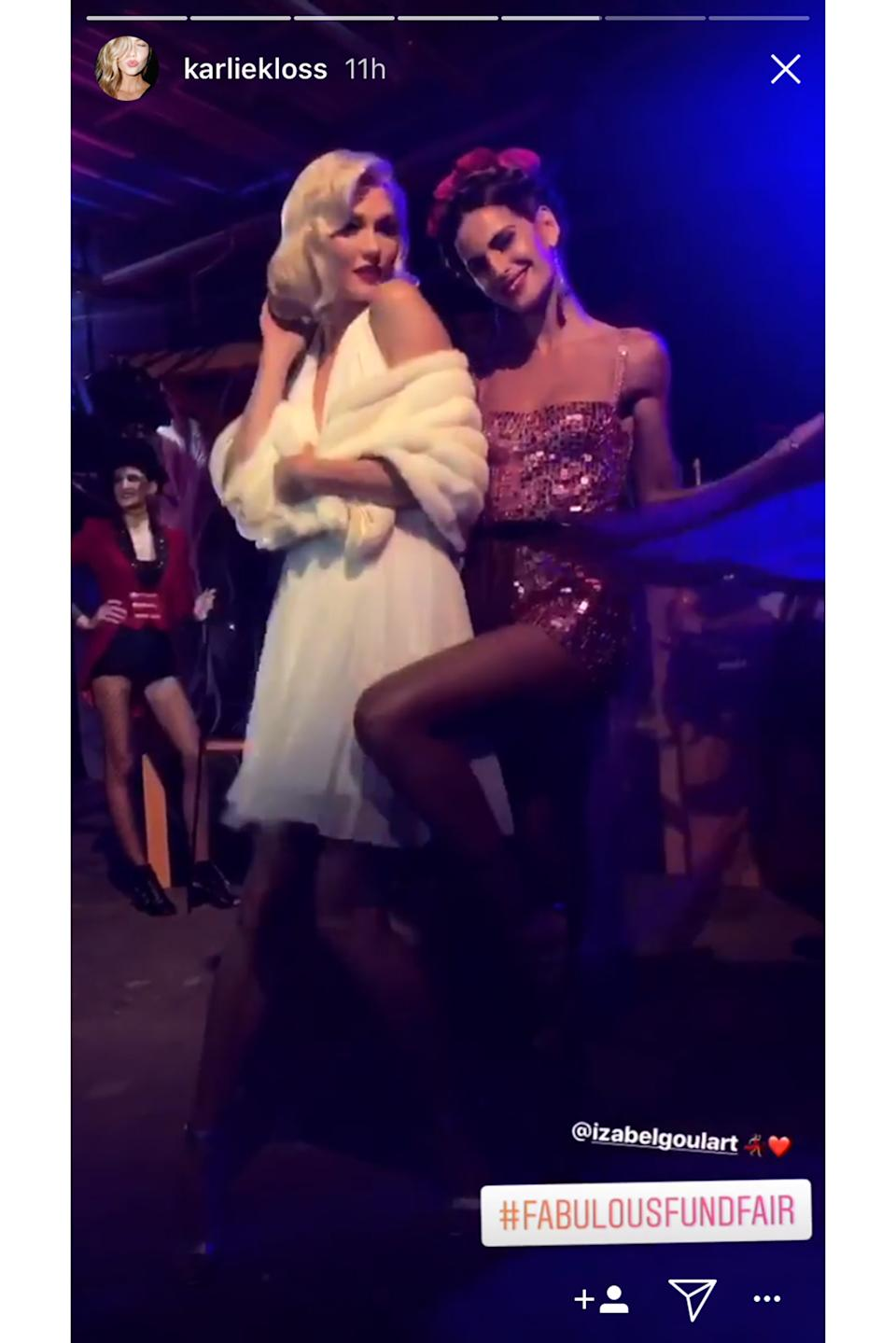 """<strong>Karlie Kloss as Marilyn Monroe</strong><br><br>Marilyn Monroe is a popular go-to for Halloween. She's instantly recognizable, and Kloss pulls off the look so well.<span class=""""copyright"""">Photo: Via @karliekloss.</span>"""