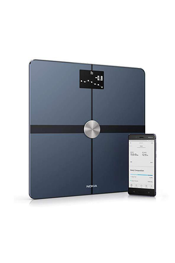 """<p><strong>Withings</strong></p><p>amazon.com</p><p><strong>$99.00</strong></p><p><a href=""""https://www.amazon.com/dp/B071XW4C5Q?tag=syn-yahoo-20&ascsubtag=%5Bartid%7C10055.g.2108%5Bsrc%7Cyahoo-us"""" rel=""""nofollow noopener"""" target=""""_blank"""" data-ylk=""""slk:Shop Now"""" class=""""link rapid-noclick-resp"""">Shop Now</a></p><p>This scale connects with your phone to <strong>track weight, BMI, total body fat, water percentage and bone and muscle mass.</strong> While not all features (i.e. weather) seem critical, it includes loads of insights, making it a perfect fit for someone looking to keep track of their weight loss. It can monitor up to eight different profiles, so it's great for a full household.</p>"""