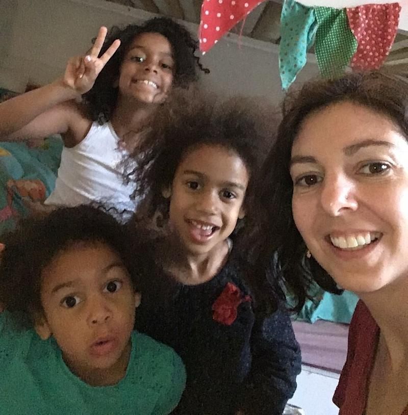 Fariba Soetan with her three daughters (Photo: Courtesy Fariba Soetan)