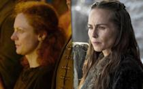 <p><b>Original:</b> Sarah McKeever (Season 1)</p><p><b>Recast:</b> Tara Fitzgerald (Seasons 3-5)</p><p>Like Richard Karstark, Selyse had a very brief, non-speaking appearance at the Burning of the Seven. Fitzgerald was hired when Selyse's role expanded as Stannis pursued the Iron Throne.</p><p><i>(Credit: HBO)</i></p>