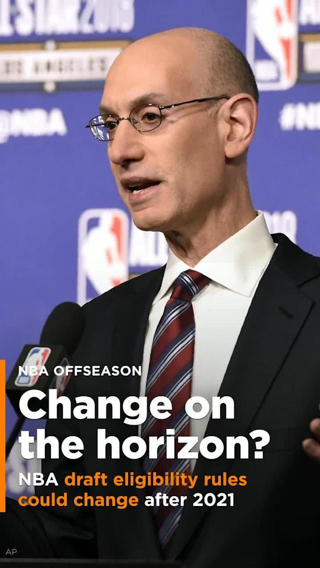 Change to the NBA draft's eligibility rules isn't coming for at least three years, but after that? Maybe.