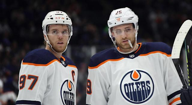 McDavid and Draisaitl are logging heavy minutes early in the season. (Photo by Bruce Bennett/Getty Images)