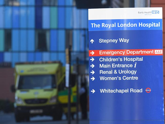 <p>The Royal London Hospital, in Whitechapel, treated hundreds of Covid-19 patients  </p> (PA)