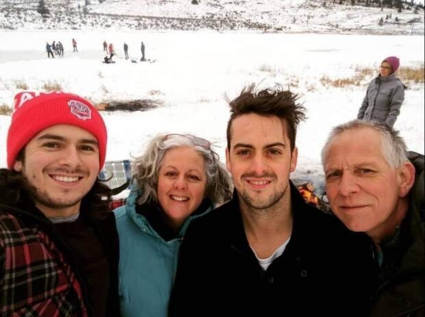 Troylana Manson, second from left, and her son Aaron, second from right, pictured with his father and brother. Aaron Manson died of drug overdose in Kamloops, B.C., on April 26.  (Submitted by Troylana Manson - image credit)