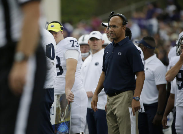 James Franklin has a 31-15 record at Penn State. (AP Photo/Nam Y. Huh)