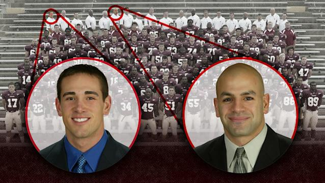 Matt LaFleur, left, and Robert Saleh were part of Brian Kelly's staff at Central Michigan in 2004. (Courtesy of Central Michigan)