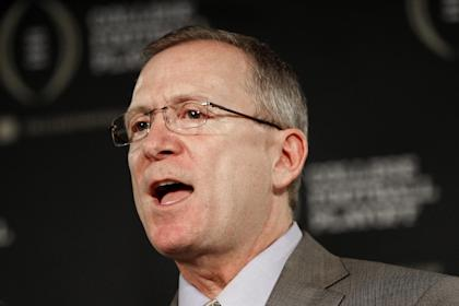Arkansas athletic director Jeff Long is chairman of College Football Playoff selection committee. (AP)