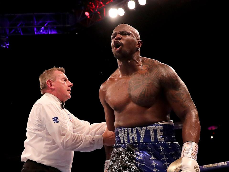 British heavyweight Dillian Whyte (Getty Images)
