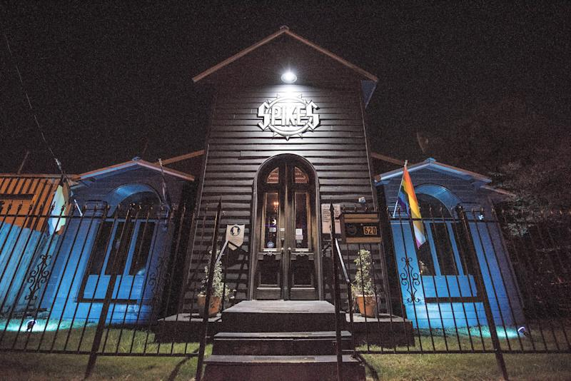 The exterior of Spike's Leather Club in Birmingham, Alabama. (Damon Dahlen/HuffPost)