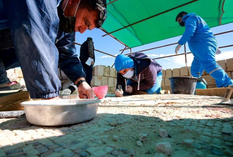 The painstaking restoration work has generated employment for locals and for Syrian refugees