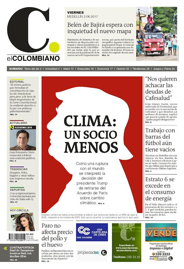 "<p>""El Colombiano,"" published in Medellin, Colombia. (Newseum) </p>"