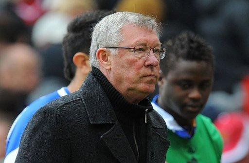 Alex Ferguson's reigning champions are three points clear of their Manchester rivals at the top of the table