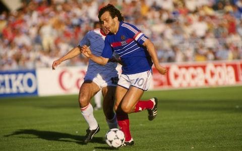 Platini was an iconic player during the 1980s before becoming Uefa president in 2007 - Credit: GETTY IMAGES