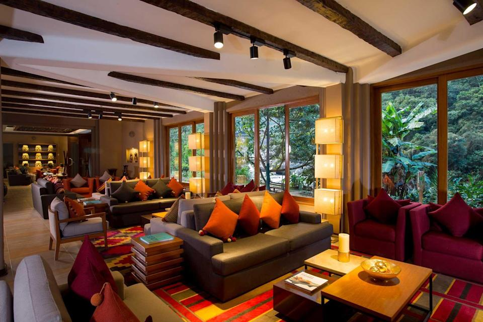 Lobby of the Sumaq Machu Picchu, voted one of the best hotels in the world
