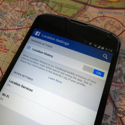 Smartphone screen showing location history