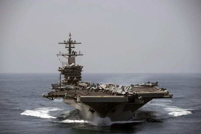 The USS Theodore Roosevelt has been in the Persian Gulf.