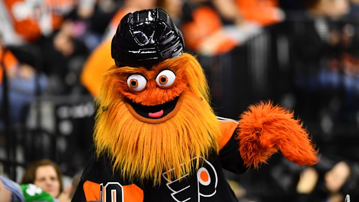 The Philadelphia Flyers mascot might be in hot water.(Photo by Kyle Ross/Icon Sportswire via Getty Images)