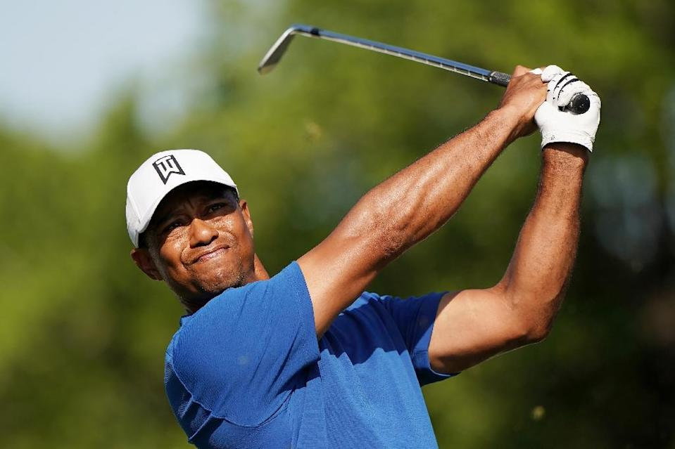 Tiger Woods defeated Aaron Wise in his opener Wednesday at the WGC Match-Play Championship (AFP Photo/Darren Carroll)