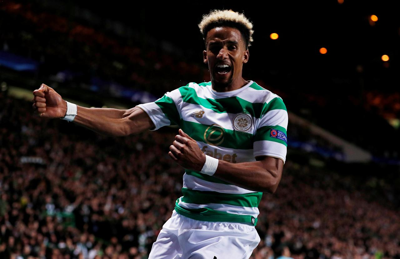 Football Soccer - Champions League - Celtic vs FC Astana - Qualifying Play-Off First Leg - Glasgow, Britain - August 16, 2017   Celtic's Scott Sinclair celebrates scoring a goal   Action Images via Reuters/Lee Smith     TPX IMAGES OF THE DAY