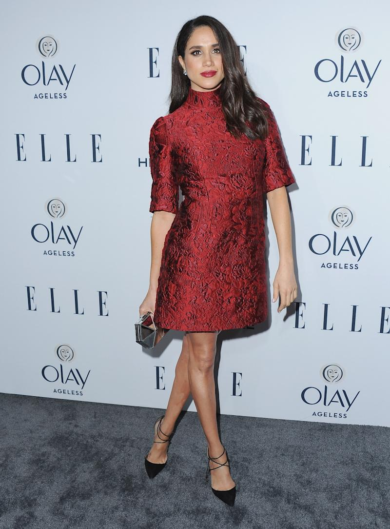 WEST HOLLYWOOD, CA - JANUARY 20: Actress Meghan Markle arrives at ELLE's 6th Annual Women In Television Dinner at Sunset Tower Hotel on January 20, 2016 in West Hollywood, California. (Photo by Jon Kopaloff/FilmMagic)