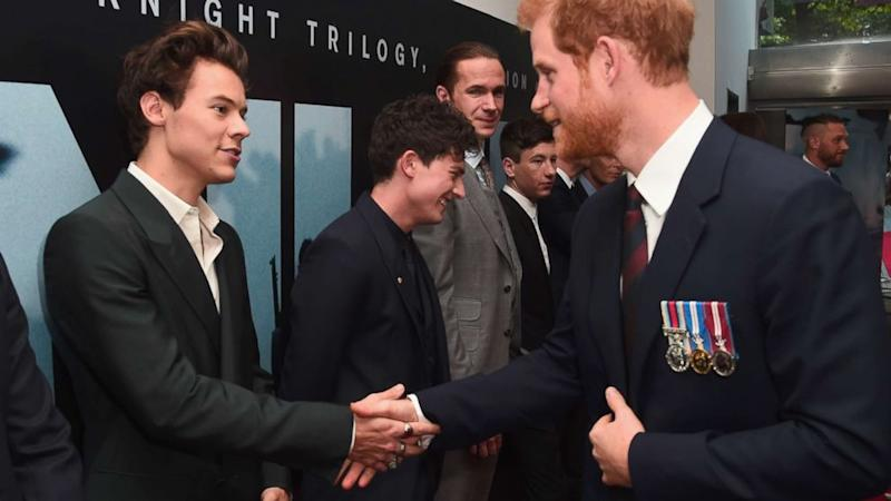 When Harry met Harry: Prince Harry and Harry Styles step out at movie premiere
