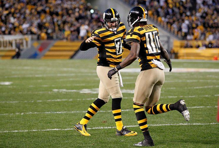 Ben Roethlisberger and Martavis Bryant hope to reconnect both on and off the field. (Getty)