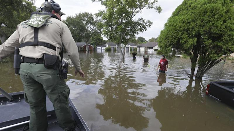 Following the devastation of storm Harvey rescuers are now searching block by block for survivors.