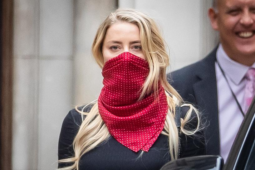 Actress Amber Heard leaves the High Court in London following a hearing in Johnny Depp's libel case against the publishers of The Sun and its executive editor, Dan Wootton.