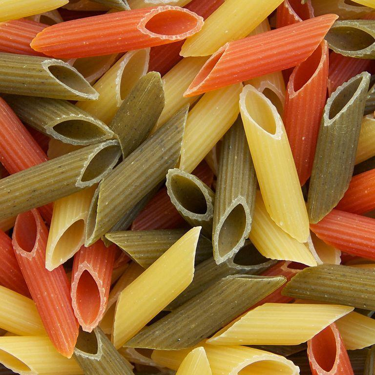 <p>The differences between vegetable-enriched and regular pasta are so nutritionally insignificant that swapping one for the other doesn't impact your health very much at all, says Emily Rubin, R.D., clinical dietitian at Thomas Jefferson University Hospital in Philadelphia. The legit healthier alternative: swapping your go-to pasta for spiraled vegetables or spaghetti squash.</p>