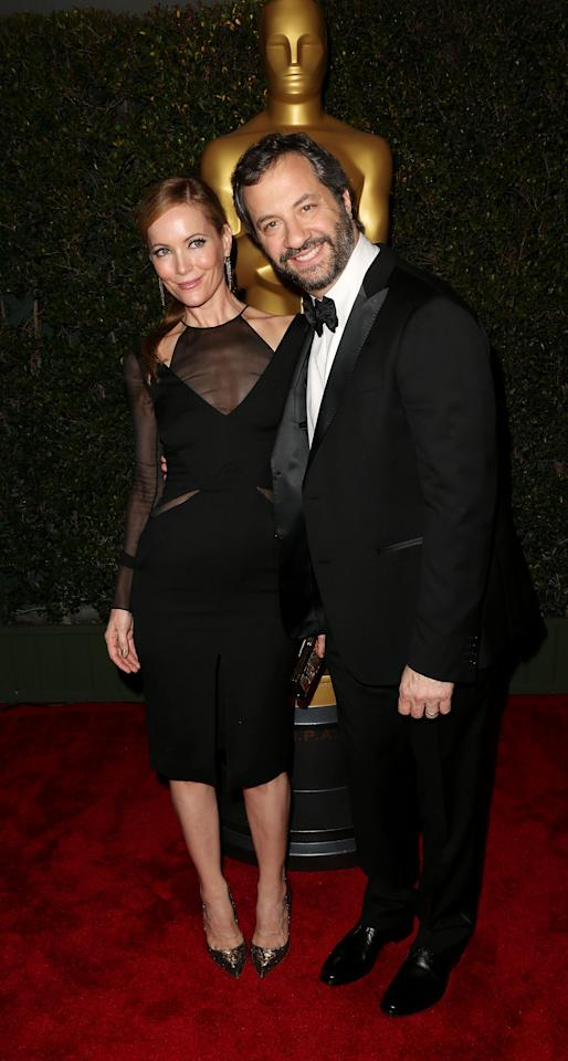 HOLLYWOOD, CA - DECEMBER 01:  Actress Leslie Mann (L) and producer/writer/director Judd Apatow attend the Academy Of Motion Picture Arts And Sciences' 4th Annual Governors Awards at Hollywood and Highland on December 1, 2012 in Hollywood, California.  (Photo by Frederick M. Brown/Getty Images)