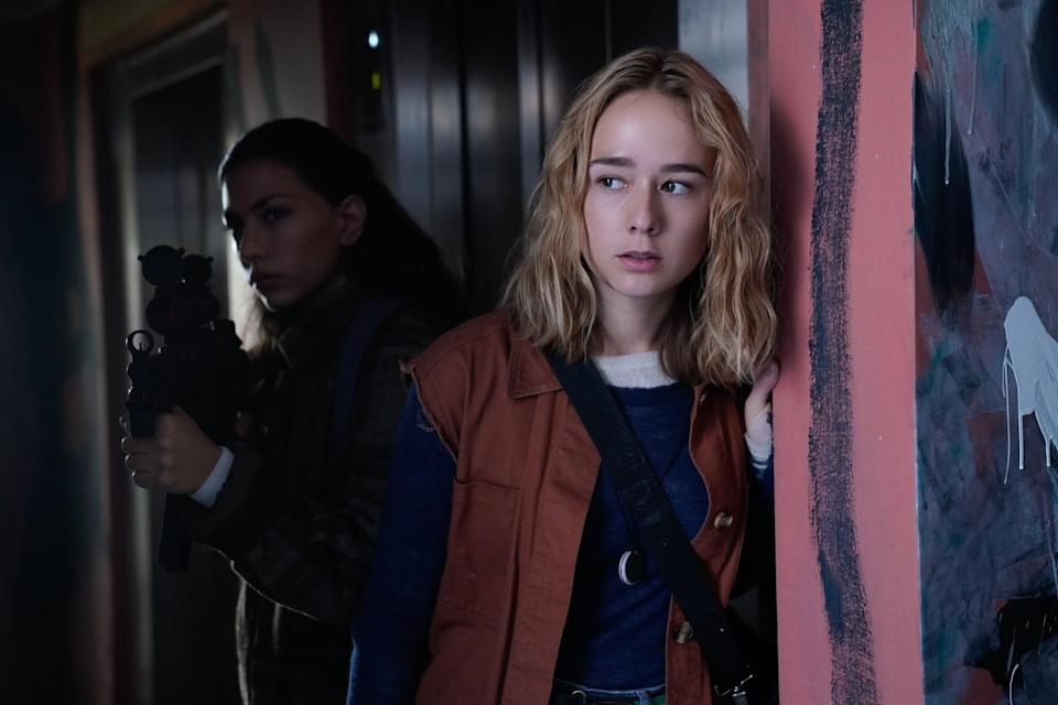 """<p>In this postapocalyptic Danish series, two teenage siblings, Simone and Rasmus, navigate the world alongside a ragtag team of survivors five years after a virus spread by rainfall wipes out almost all of Scandinavia. Expect a lot of drama, a lot of struggle, and a lot of raging hormones. <a href=""""http://www.radiotimes.com/news/on-demand/2020-08-11/the-rain-cancelled-season-4/"""" class=""""link rapid-noclick-resp"""" rel=""""nofollow noopener"""" target=""""_blank"""" data-ylk=""""slk:There won't be a fourth season"""">There won't be a fourth season</a> of this one, but you can watch all three seasons of the series now. </p> <p><a href=""""http://www.netflix.com/title/80154610"""" class=""""link rapid-noclick-resp"""" rel=""""nofollow noopener"""" target=""""_blank"""" data-ylk=""""slk:Watch The Rain on Netflix now"""">Watch <strong>The Rain</strong> on Netflix now</a>.<br></p>"""