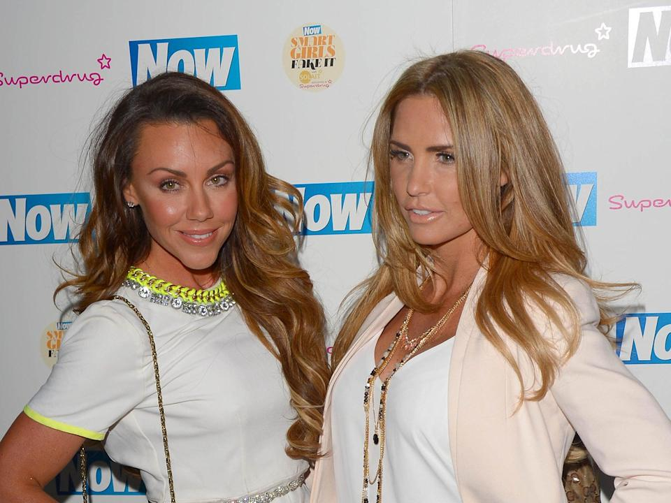 <p>Michelle Heaton and Katie Price at an event in 2015</p> (Stuart C Wilson/Getty Images)