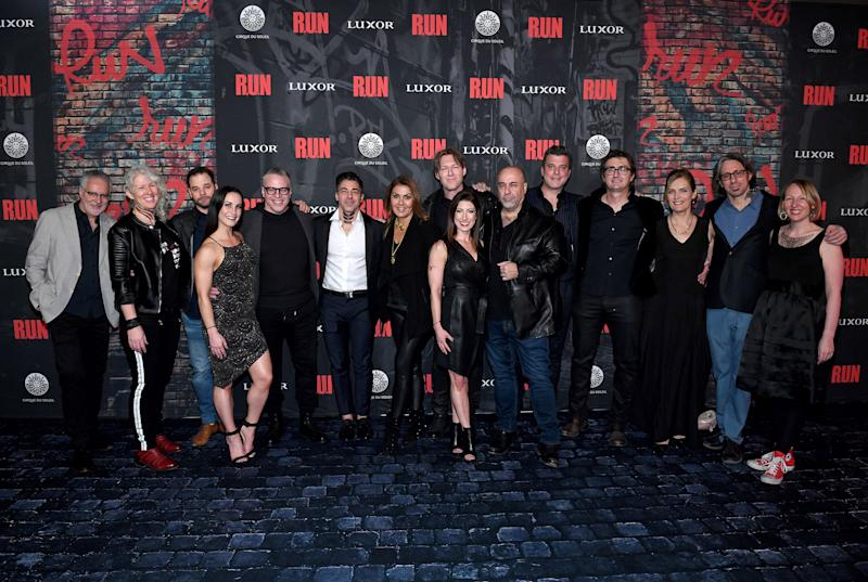 Creative Team for R.U.N at the World Premiere Inside Luxor Hotel and Casino, Nov. 14